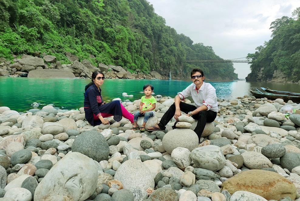 Boat ride at Dawki in Meghalaya