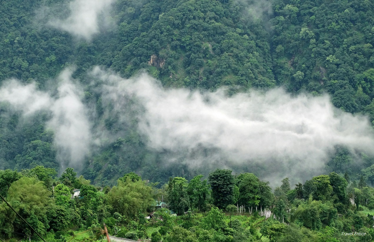 Cloud view from the room of Singhik Guest house