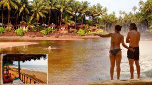 Amazing Cola Beach in Goa
