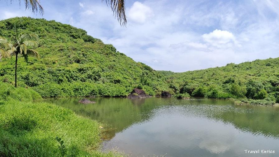 Magnificent Kalacha Beach in Goa - freshwater Lagoon