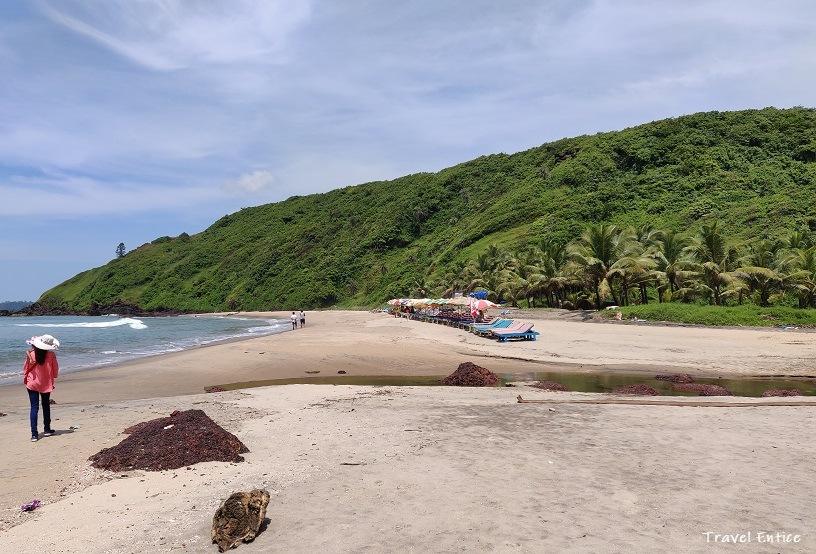Magnificent Kalacha Beach in Goa - wide angle