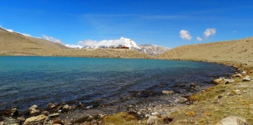 Gurudongmar Lake at Sikkim - .