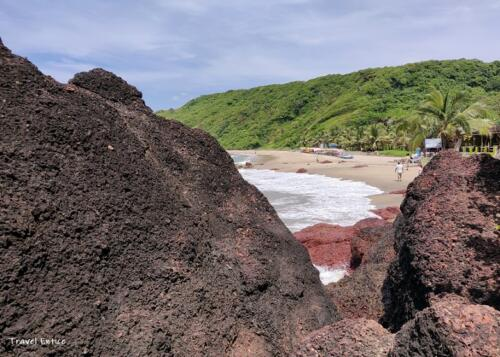 Magnificent Kalacha Beach in Goa - from the rock