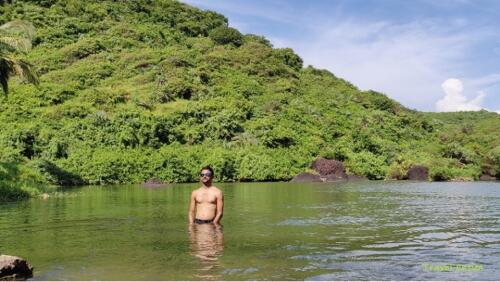 Magnificent Kalacha Beach in Goa - to lagoon