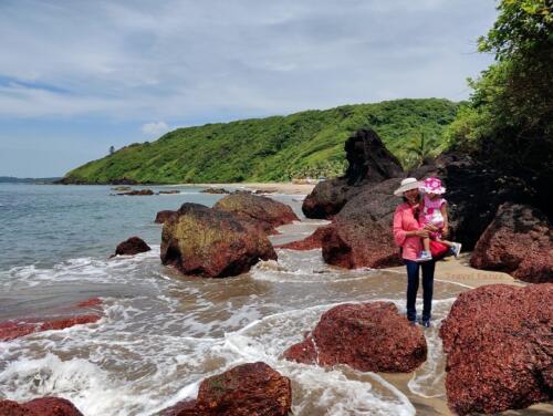 Magnificent Kalacha Beach in Goa - wet wave
