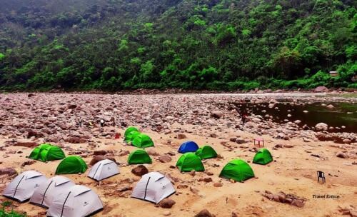 Dawki in Meghalaya: the tent facility