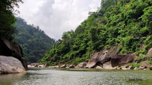 Beautiful river view at Dawki in Meghalaya